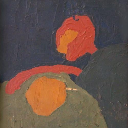 Dos figuras. Piedralaves, 1961