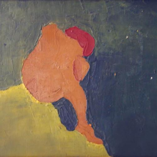 Figura pensando. Piedralaves, 1961
