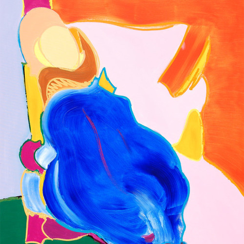 Reposo con azul. 2007